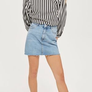 Top Shop Moto Denim Mini Skirt